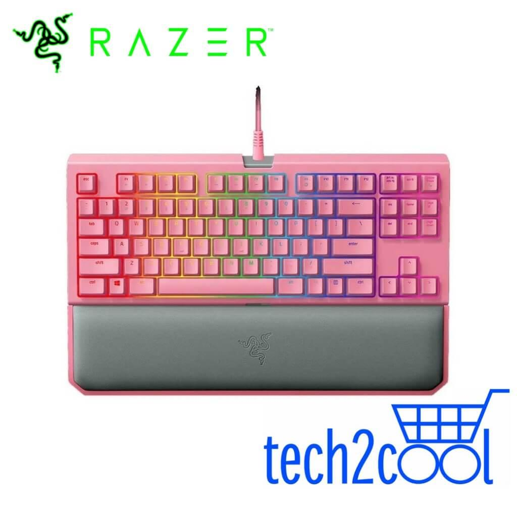 a353f08be2f Razer BlackWidow Tournament Edition Chroma V2 Quartz Pink Mechanical Gaming  Keyboard