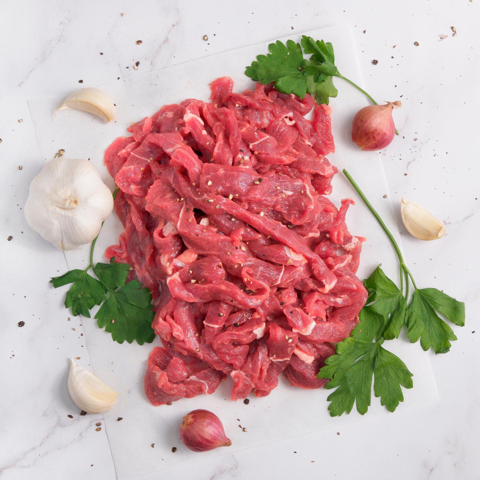 The Meat Club Grass Fed Beef Stir Fry Strips (Single Serving) - Australia - Frozen