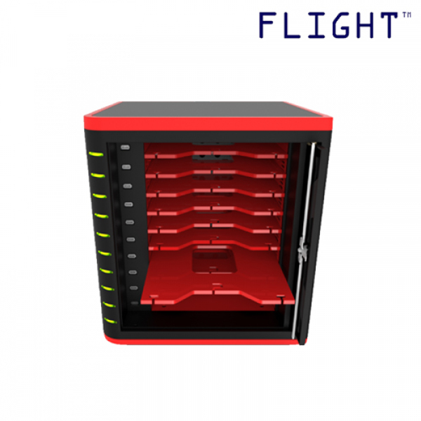 Charging Cart, 10 Device Capacity, Sliding Shelf Type, Store, Secure, Sync and Charge, Cable Management Included - CCT-10 - Flight