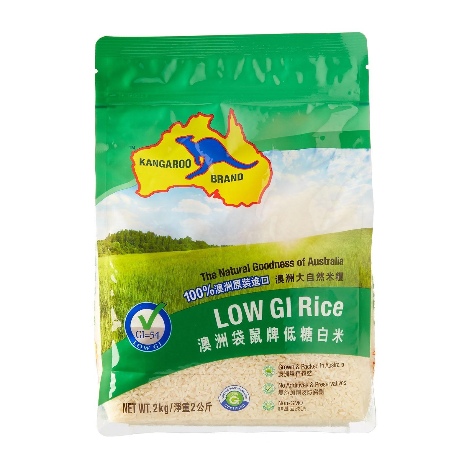 Kangaroo Australian Low Gi Rice By Redmart.