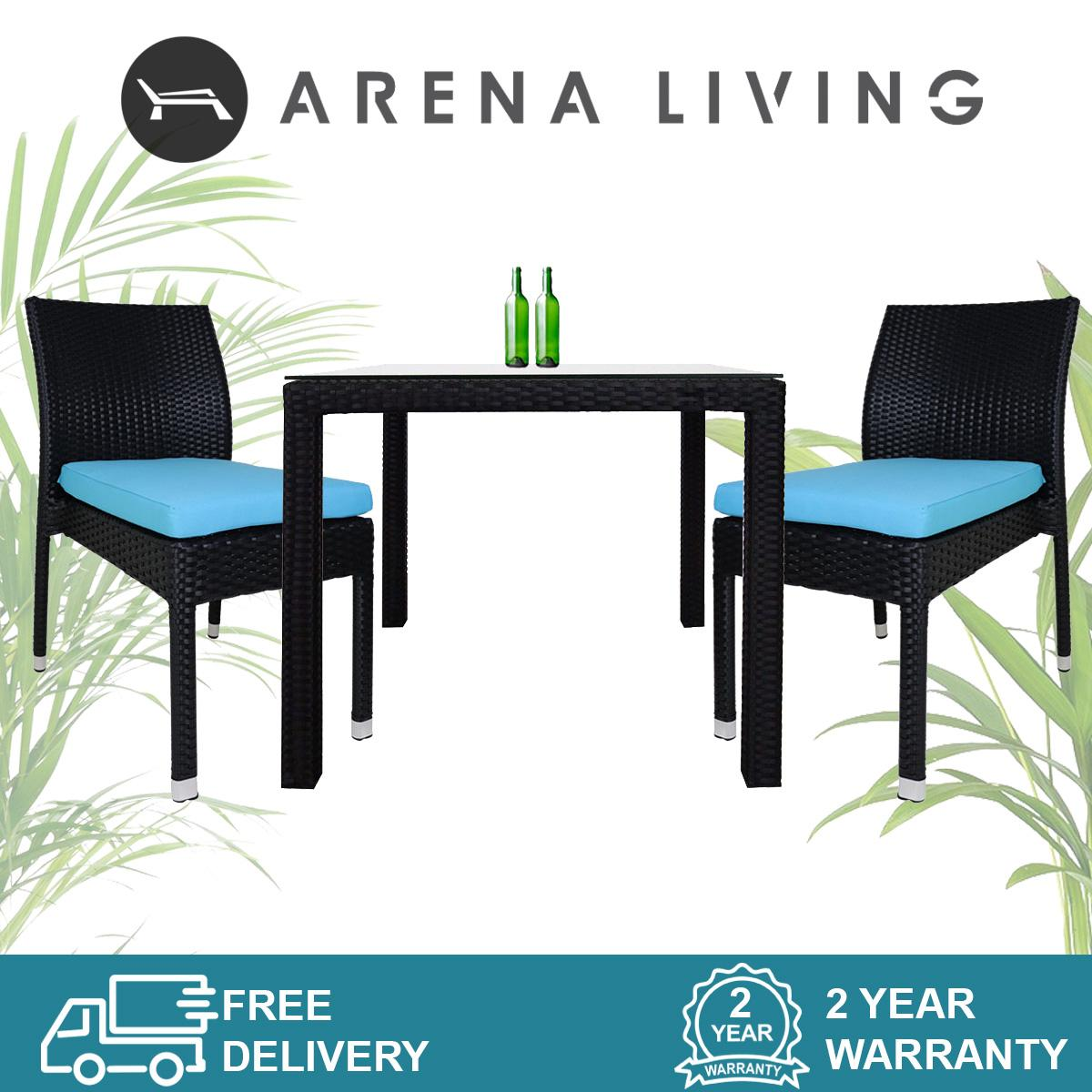 Monde Outdoor 2 Chair Dining Set by Arena Living - 2 Year Warranty