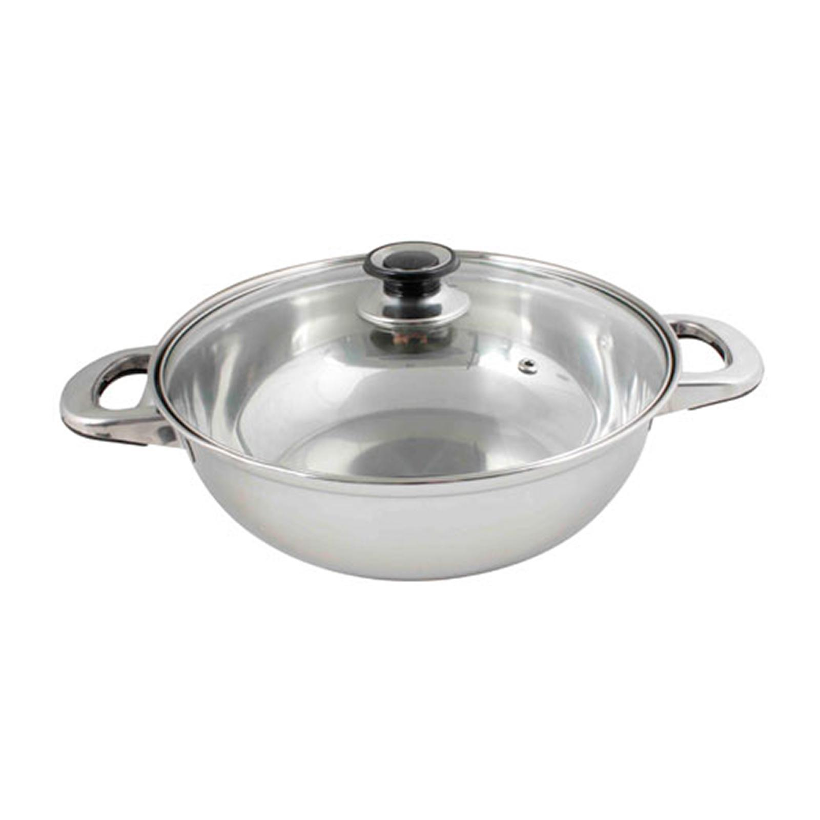 ToTT Induction Shabu Shabu Hot Pot With Glass Lid 28Cm - By ToTT