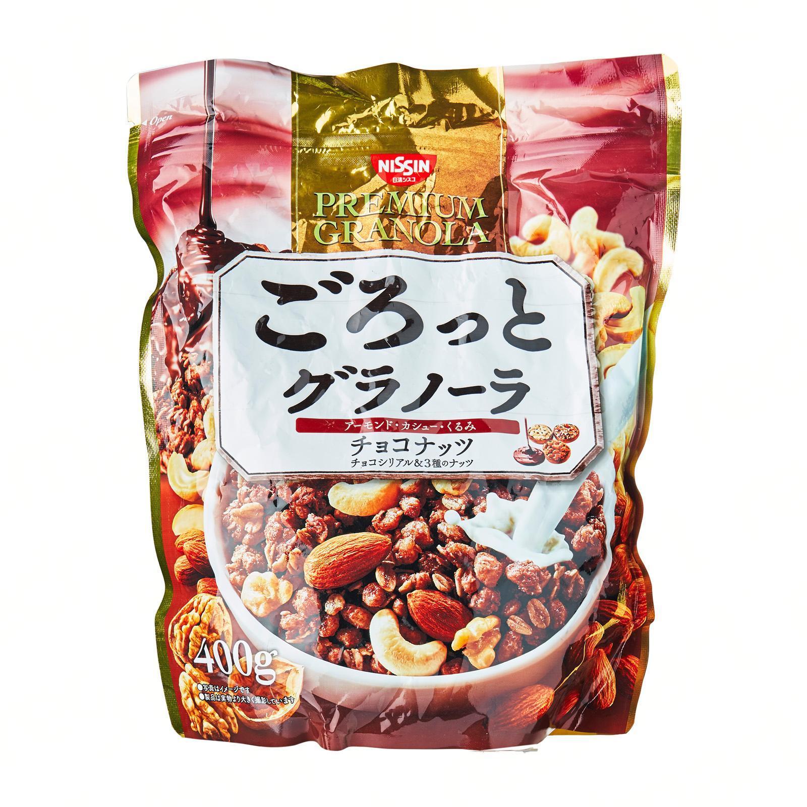 Nissin Gorotto Chocolate Nuts Flavour Breakfast Granola