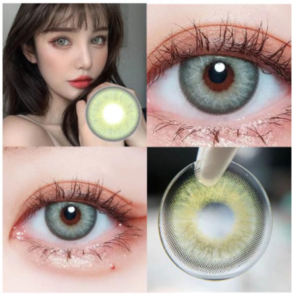 Buy Natural Tone Color Eye Contact Lenses, 2pcs/pair STYLE: NATURAL GREEN Singapore