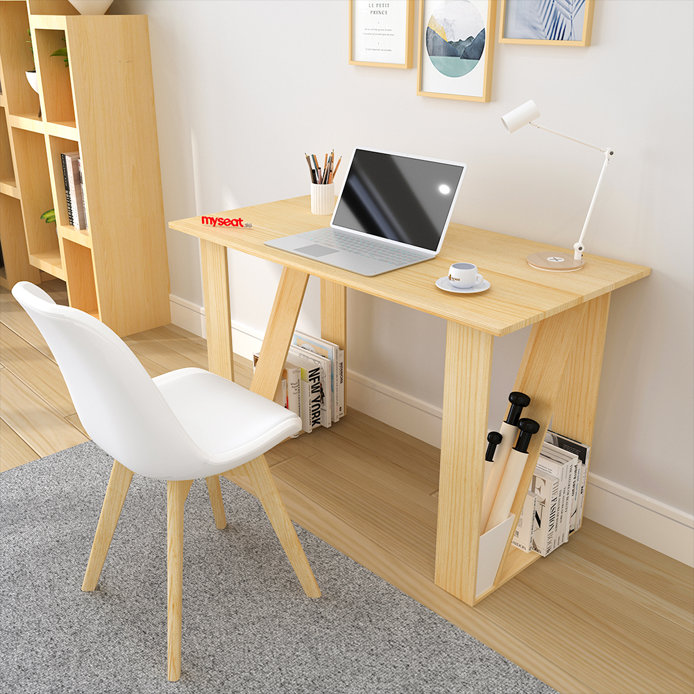 MYSEAT.sg LESIA Solid Wood Study Table
