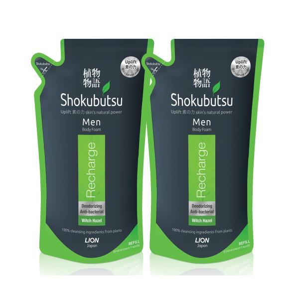 Buy Shokubutsu Men Body Foam - Recharge 600ml x 2 Singapore
