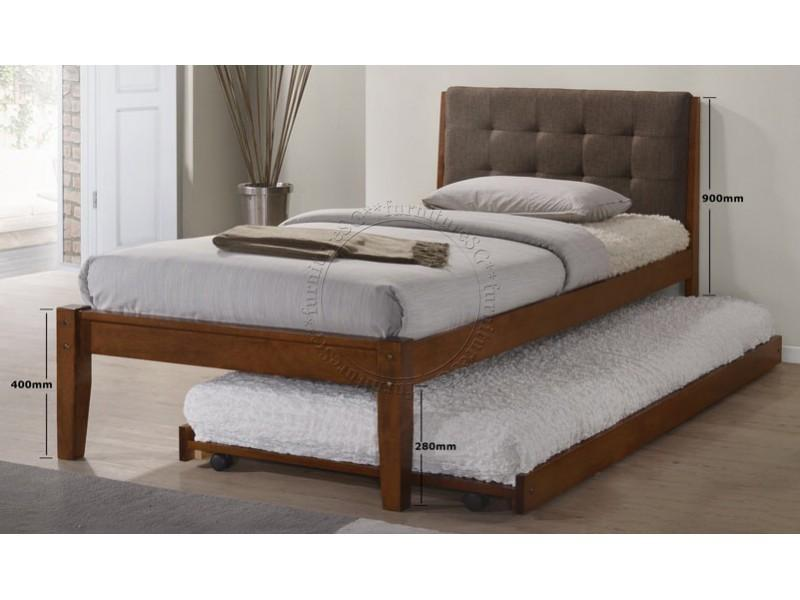 Wooden Bed with Pull Out