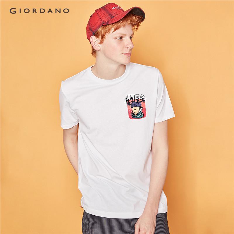 2b1cbe8a02ee Giordano Men Women T-Shirts Couple Tshirt BOBO Series Tshirt Funny T Shirt  White Tops