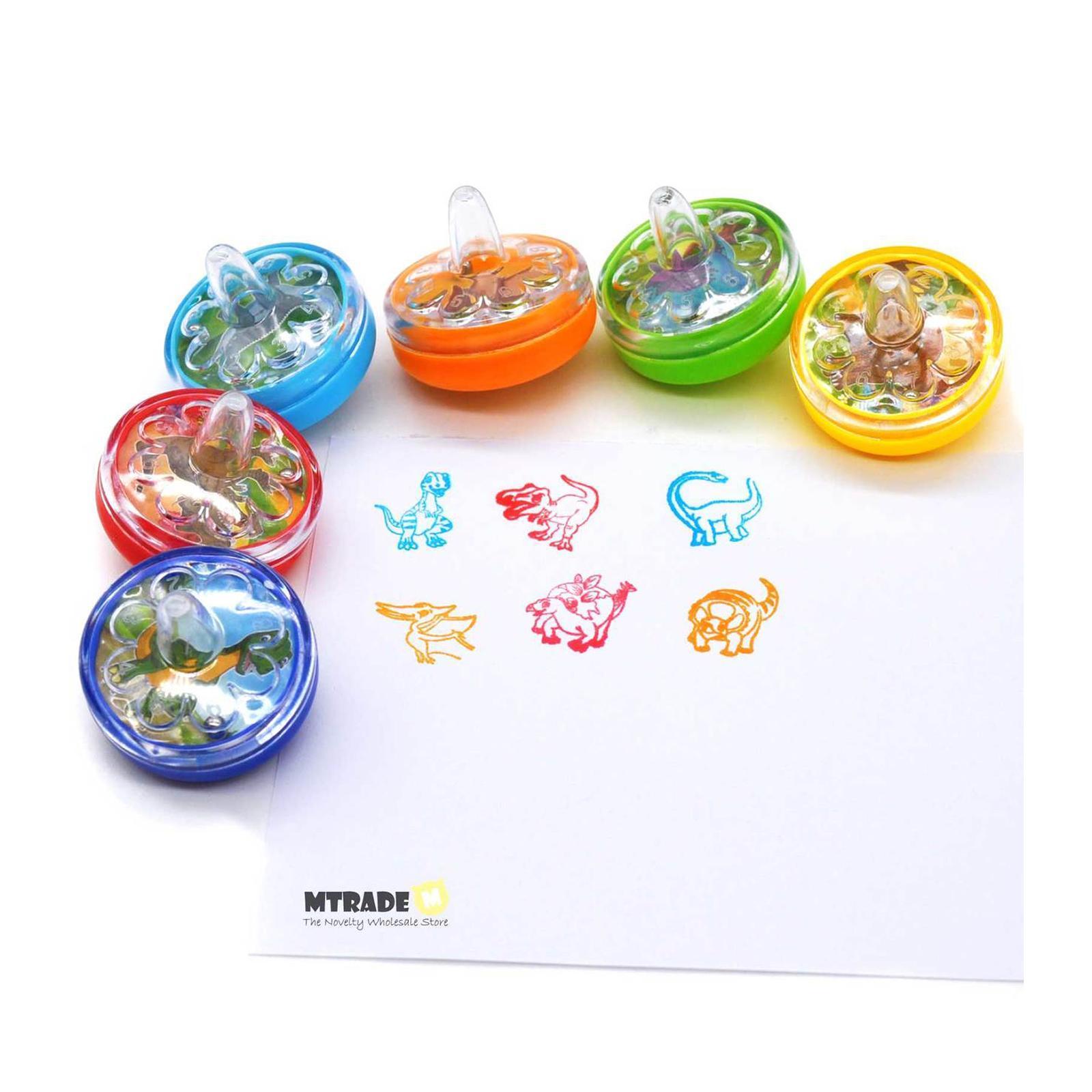 MTRADE Dinosaur Peg-Top Stamper 24 PCS / Box