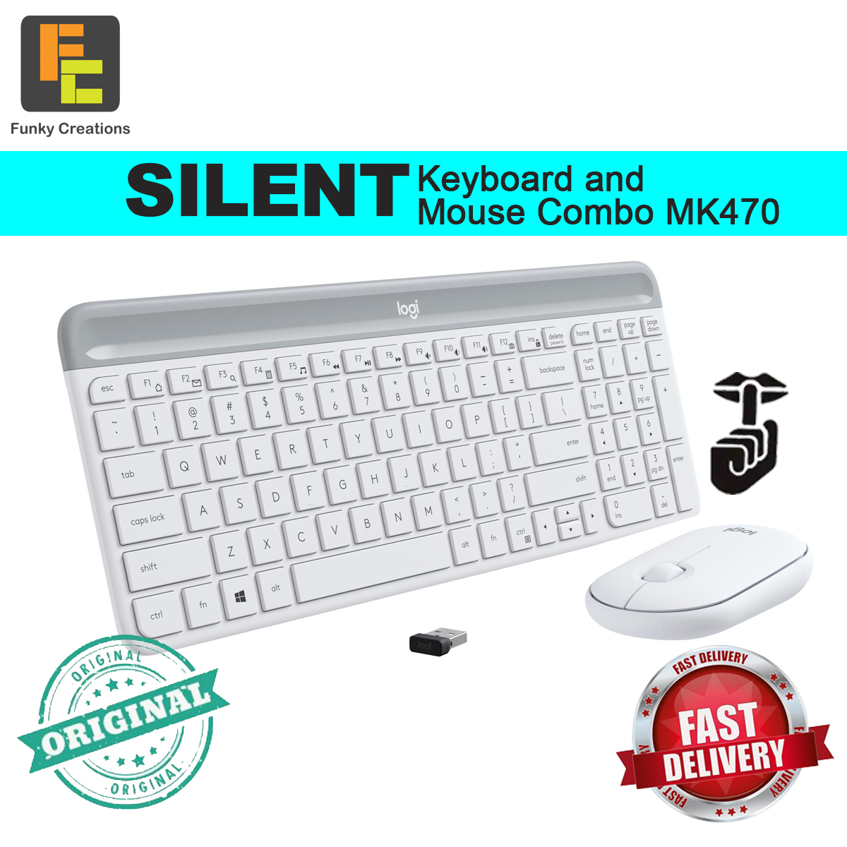 Logitech Wireless Silent Keyboard and Mouse Set MK470 Singapore