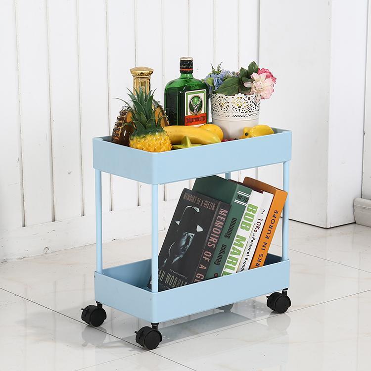 IKEA Storage Shelf Landing Multilayer Storage Rack Cart Bedside Kitchen Bedroom Bathroom Beauty Salon China Mobile Storage