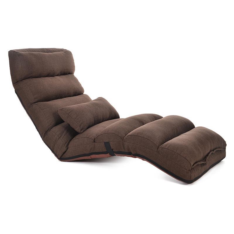 JIJI Korean Multi-Fold Lazy Sofa Chair (Fabric) 205 cm - Floor Chairs / Living Room / Furniture (SG)