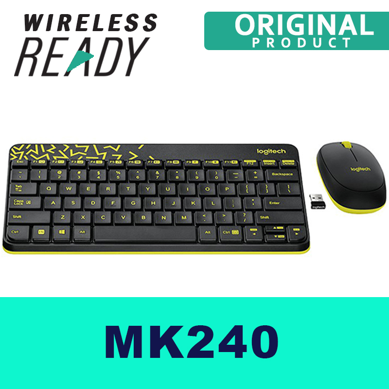 Wireless Keyboard, Logitech MK240 Nano Keyboard & Mice for PC Singapore