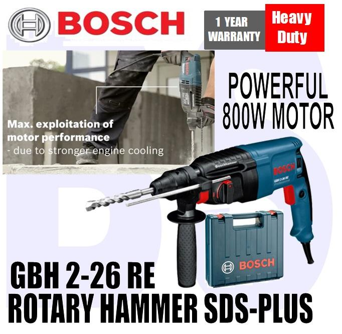 BANSOON BOSCH GBH 2-26 RE Rotary Hammer with SDS-Plus. Powerful 800W Motor. drill in metal, concrete, wood, masonry.