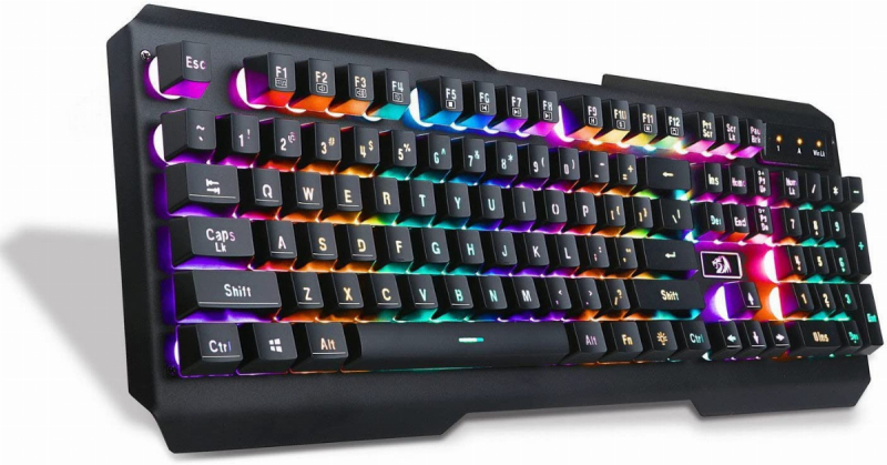 Redragon K506 Centaur 7-Color Rainbow Backlit Full-Size Gaming Keyboard with Numeric Keypad (Black) Singapore