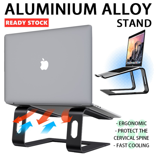 [✅SG Ready Stock] M5 Aluminum Alloy Laptop Stand Tablet Stand Portable Laptop Stand Laptop Holder Laptop Mount
