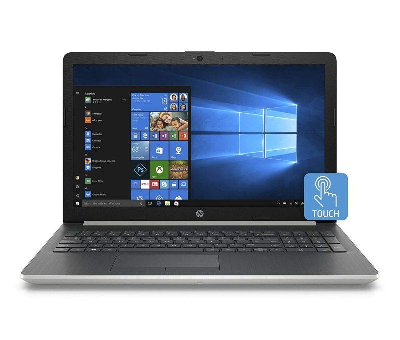 New model  2020 HP 15-da0053wm Notebook 15.6 inch HD TouchScreen display  i7-8550U or i5-8250U 8GB RAM 480/500 GB SSD Win 10 Home Natural Silver  In-build Webcam HP  PACKAGING 1 year warranty