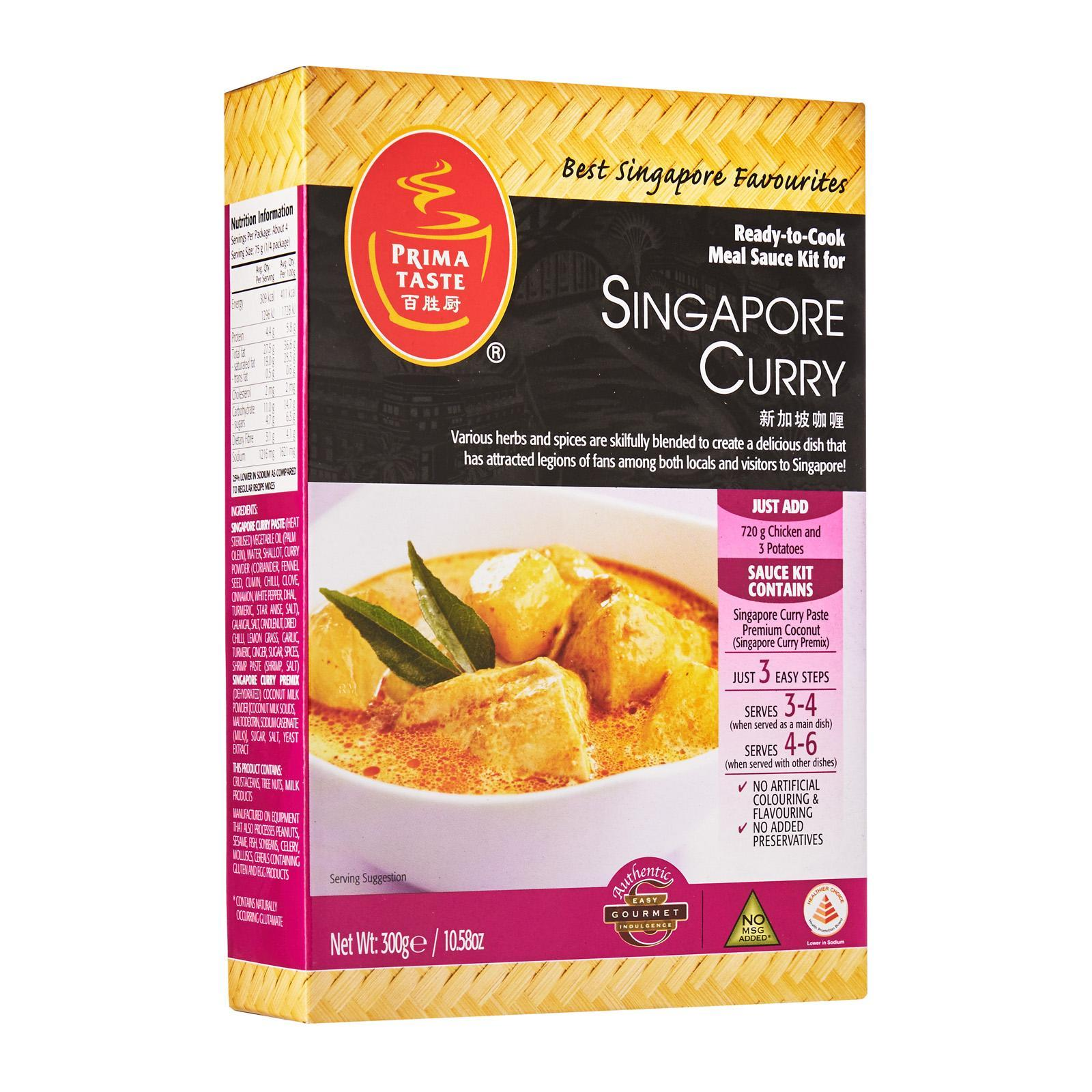 Prima Taste Singapore Curry Ready-to-Cook Sauce Kit