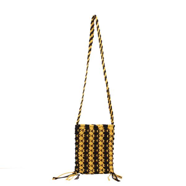Mua Fashion Messenger Bag Simple Stranded Color Straw Straw Bag Wild Vacation Beach Bag