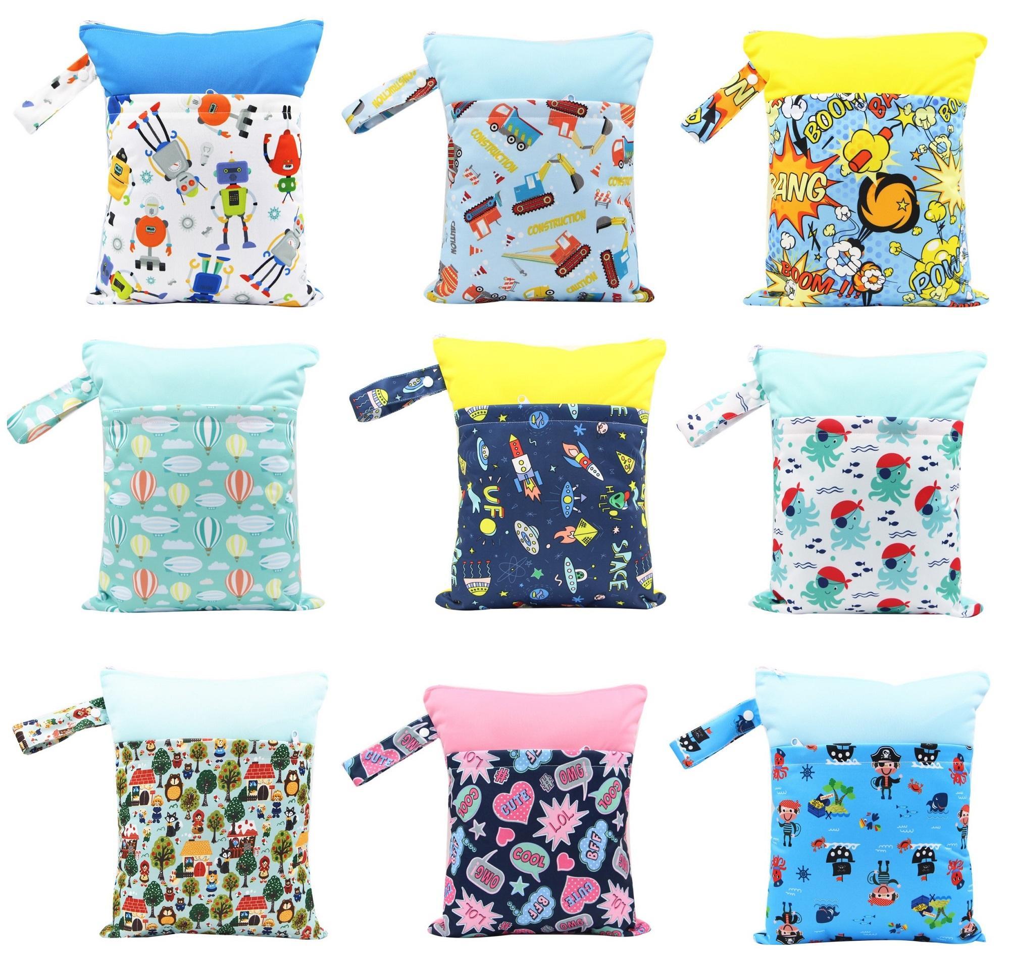 Large Size Waterproof Reusable Diaper Wetbags Swim Bag 37 Cm X 30 Cm By Little Gems.