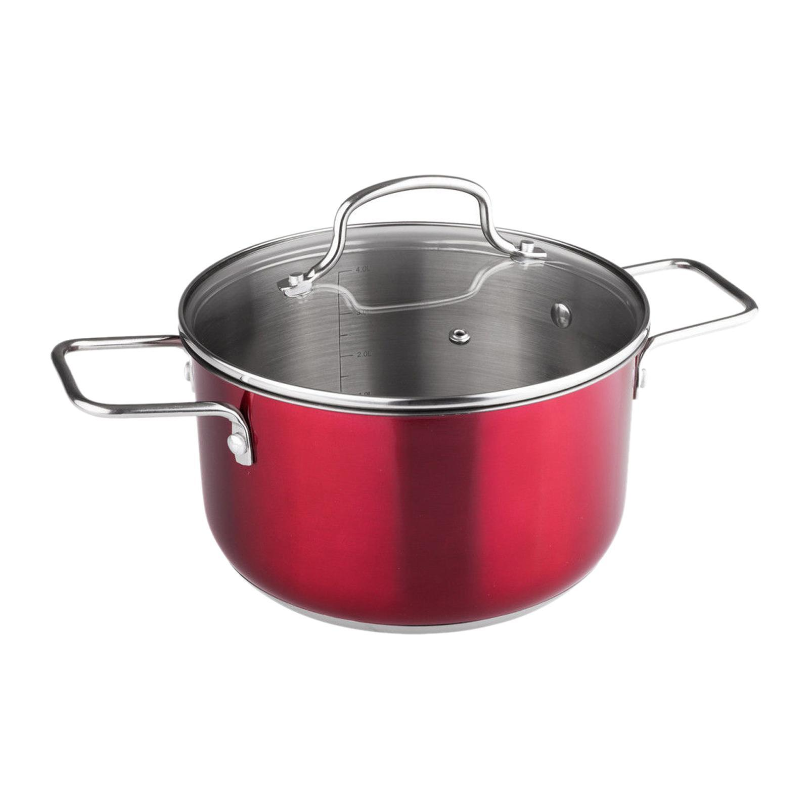 Lamart Pot JOLI With Lid 20x11.5CM - Red