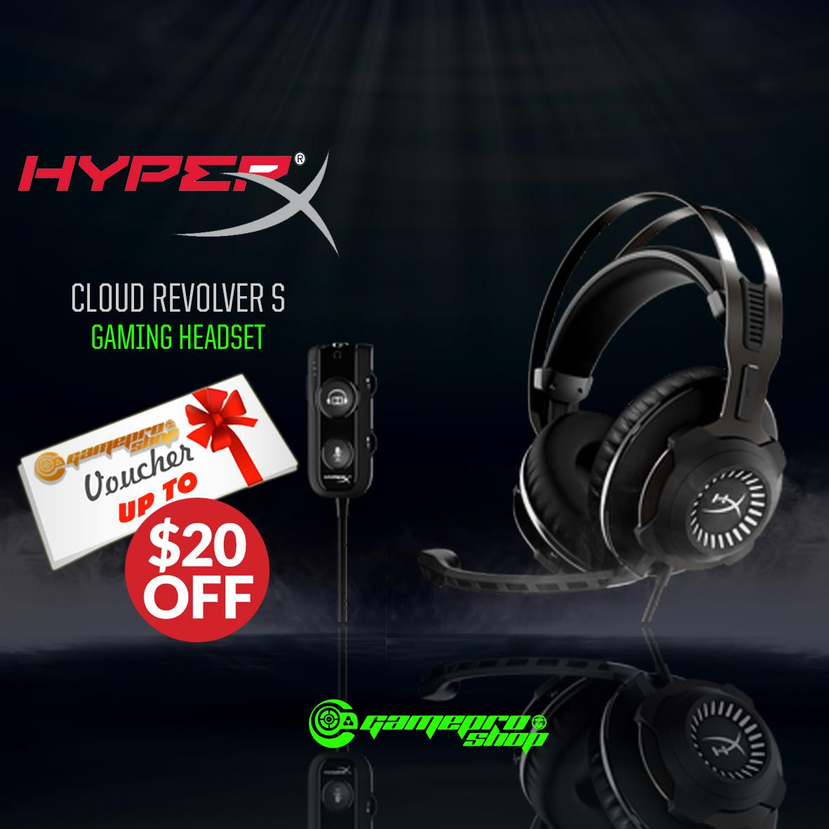 HyperX Cloud RevolverS Gaming Headset *BEST VALUE PROMO*