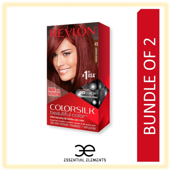 Buy REVLON [BUNDLE OF 2] COLORSILK 3D HAIR DYE HAIR COLOR Ammonia Free Dye Black/Brown/Golden/Burgundy/Ash Singapore