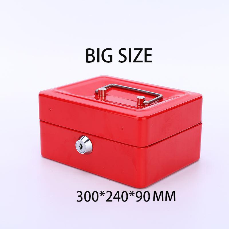 The BIG Stainless Steel Petty Cash Money Box Security Lock Lockable Metal Safe Small Fit For Home -intl