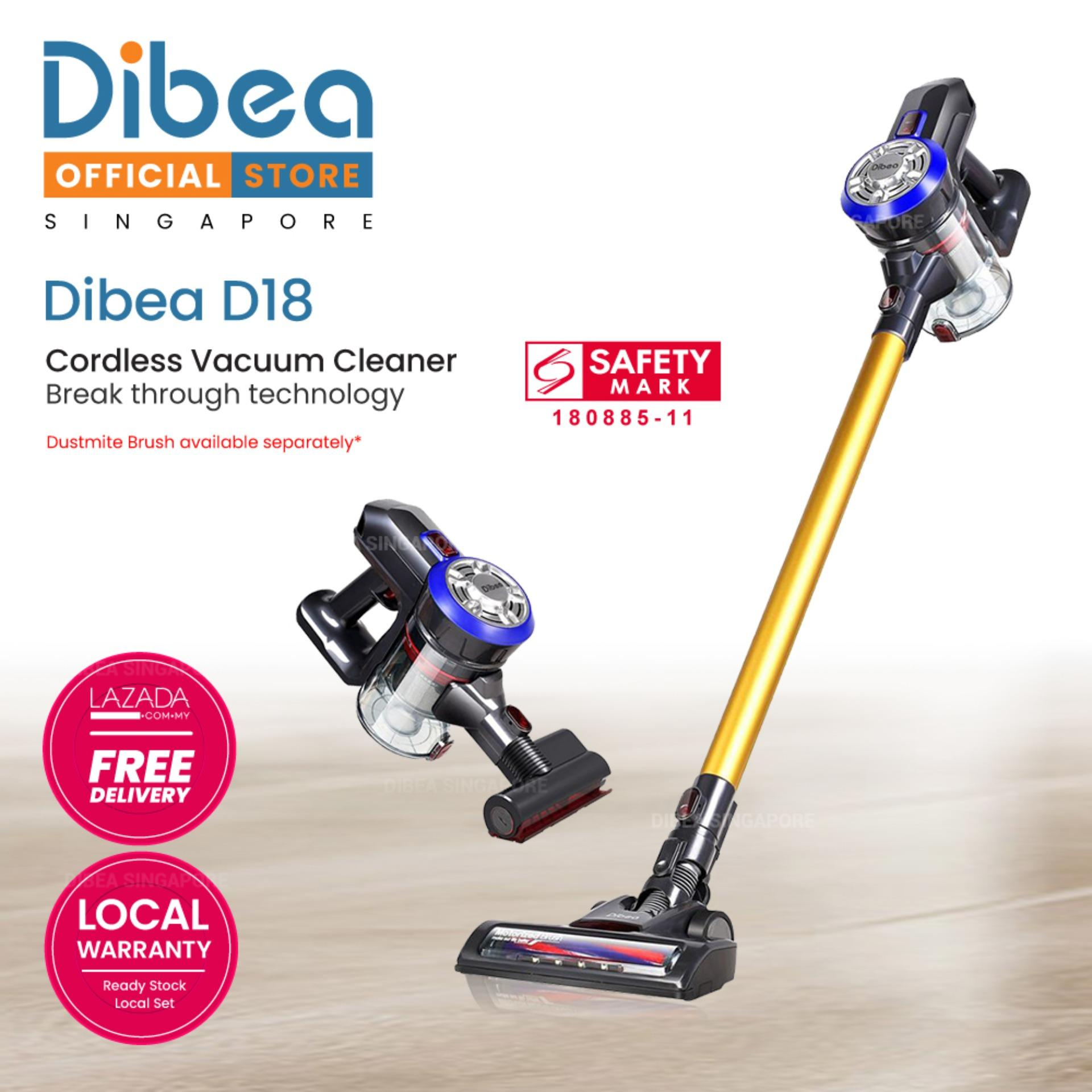[official Dibea Singapore] Dibea D18 Cordless Vacuum Cleaner Handheld Stick Led Light By Dibea Singapore Pte Ltd.
