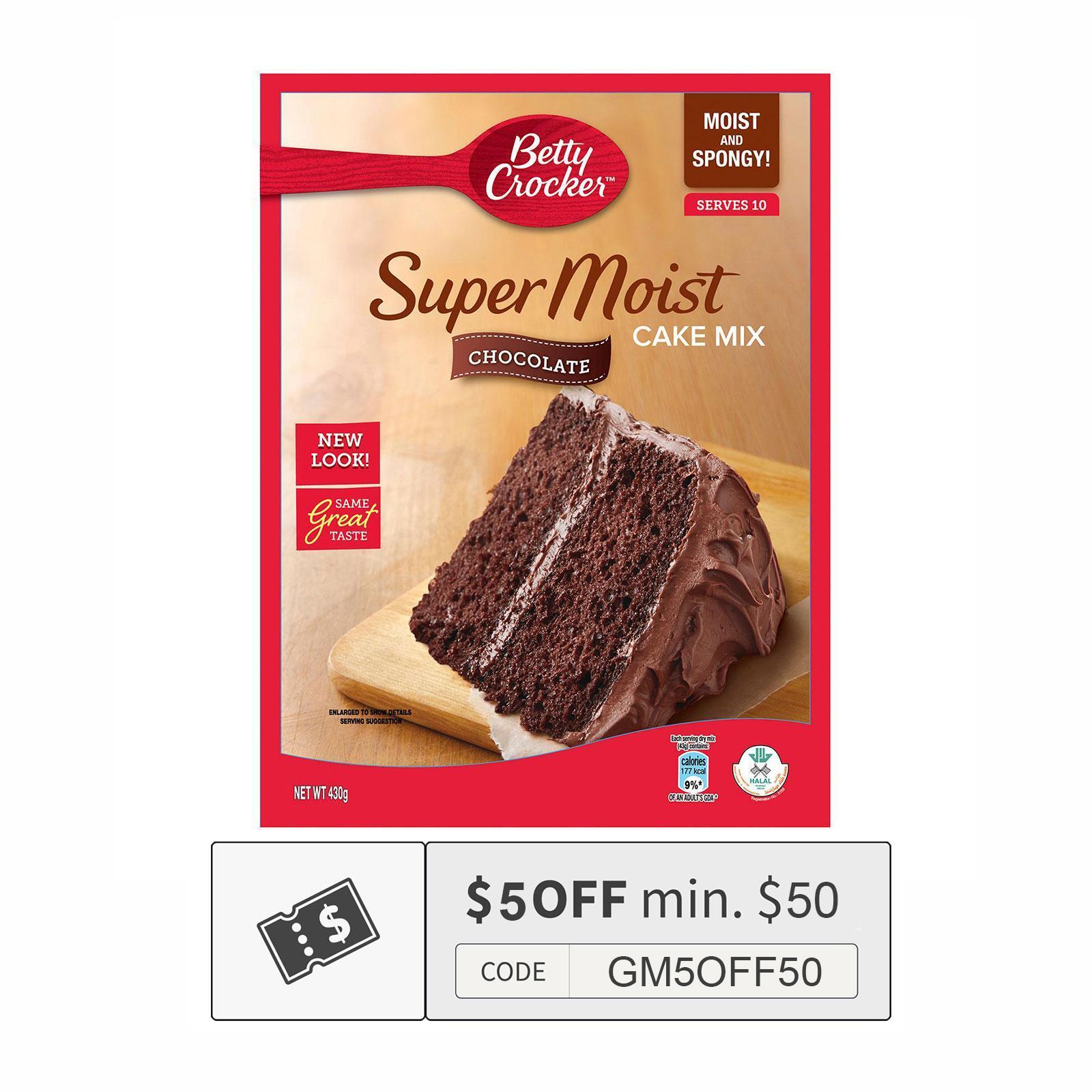BETTY CROCKER Cake Mix - Chocolate Super Moist 430g