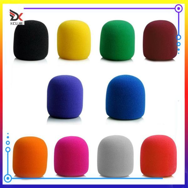 10pcs Microphone Sponge Covers Mic Foam Professional Studio Windscreen Shield Singapore