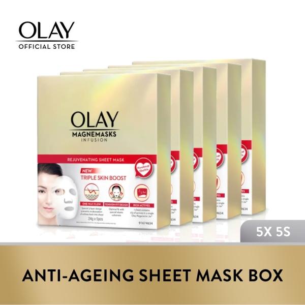 Buy Olay Anti-Ageing Sheet Mask Box 5s x3 + FREE 2 set of Mask Box 5s Singapore