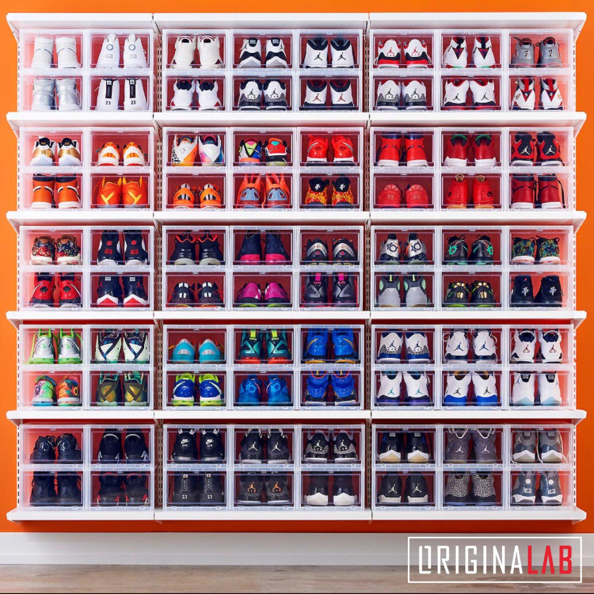 20 BOXES - ORIGINALAB Premium Stackable Shoe Box Clear HOT SALE