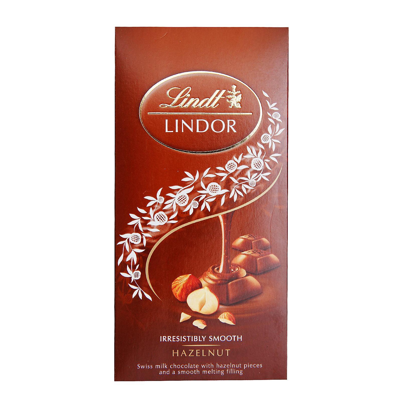Lindt Lindor Hazelnut Chocolate Bar