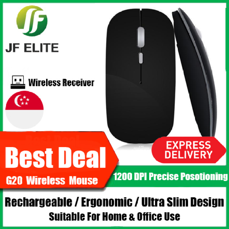G20 Rechargeable Wireless Mouse Ultra Slim & Ergonomic Local Singapore Seller