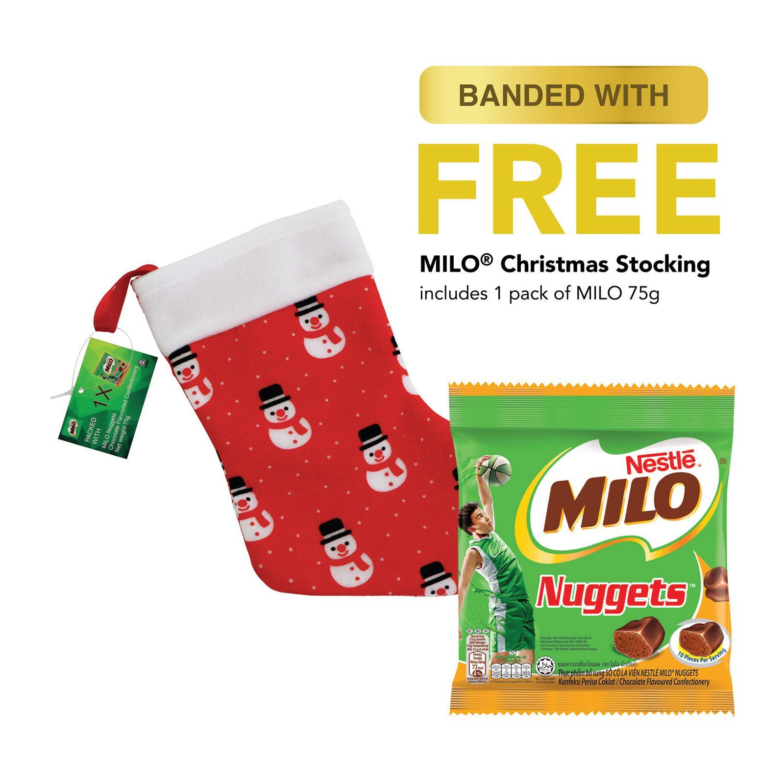 Milo Nuggets Christmas Stocking (Packed with MILO Nuggets)