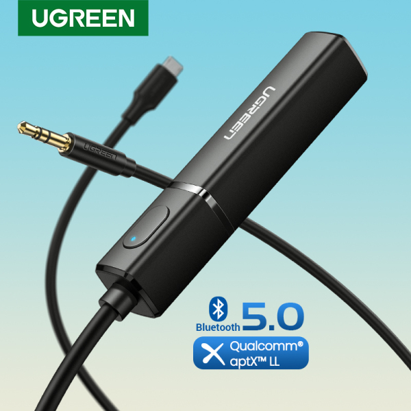 UGREEN Bluetooth 5.0 Transmitter 3.5MM Audio Bluetooth Sender Support Two-Ponit Connection Bluetooth Sender APTX for TV/PC Singapore