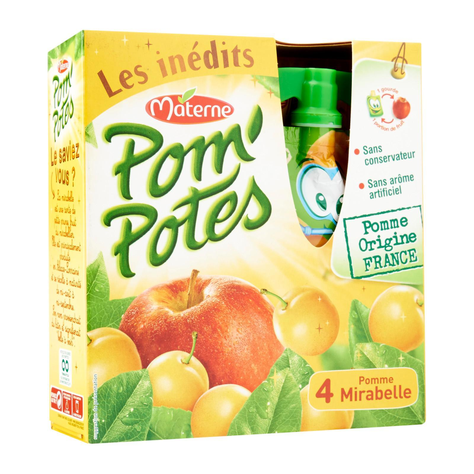 Materne Pom'Potes - Plum Apple Compote in Gourd