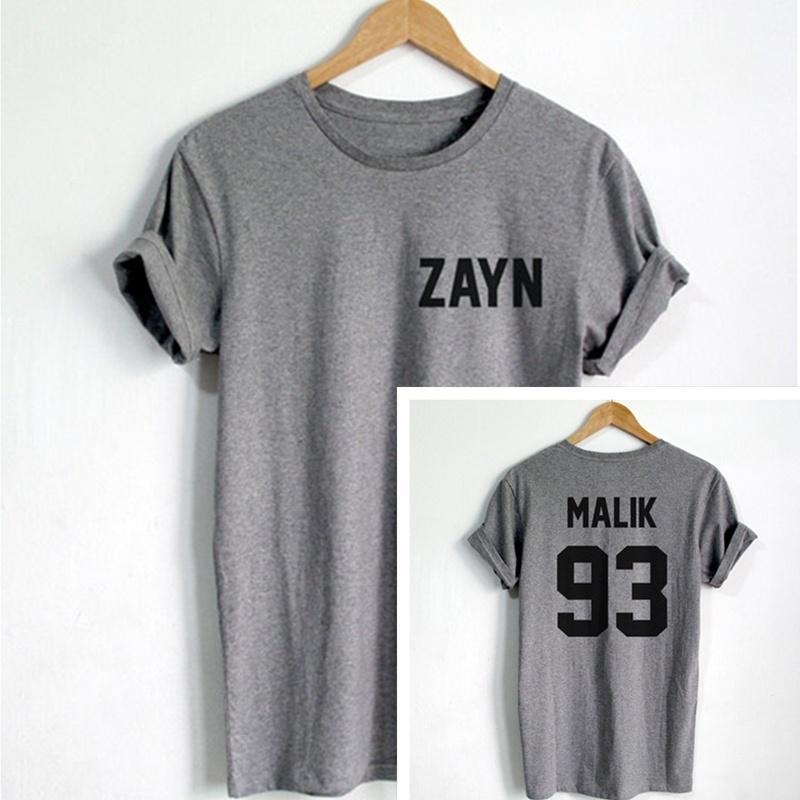 3ea4322c1d1e3e MALIK 93 shirt FRONT zayn BACK malik 93 two sides tshirt one direction zayn  malik 1993