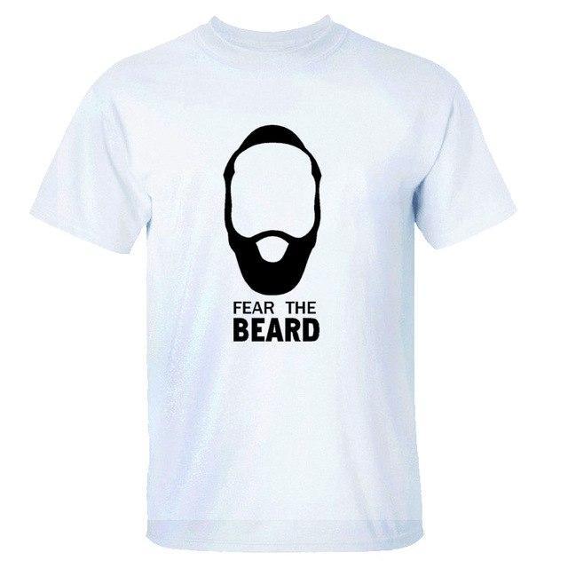e1af110c73f5 Basketballer Star James Harden Fear the Beard Cotton T Shirts O Neck Men  Short Sleeve Tops