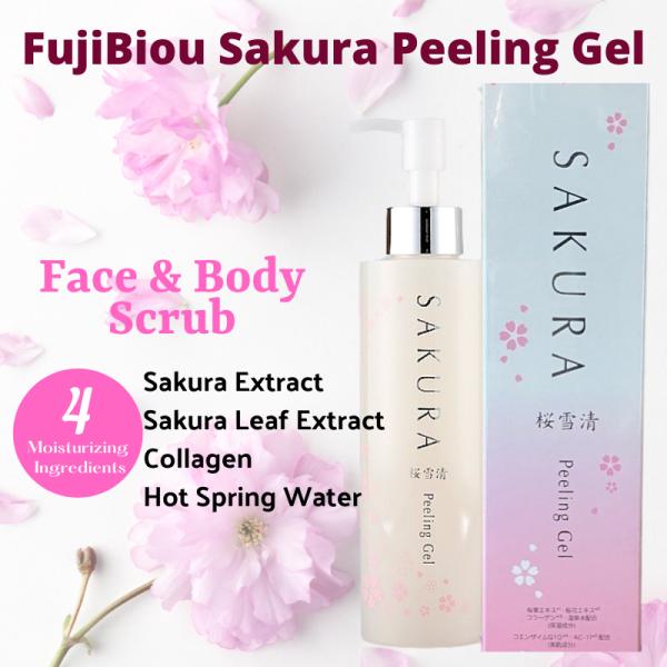 Buy Japan FujiBiou Sakura Q10 Hot Spring Water Peeling Gel FAST REMOVE DEAD SKIN Exfoliating Scrub Singapore