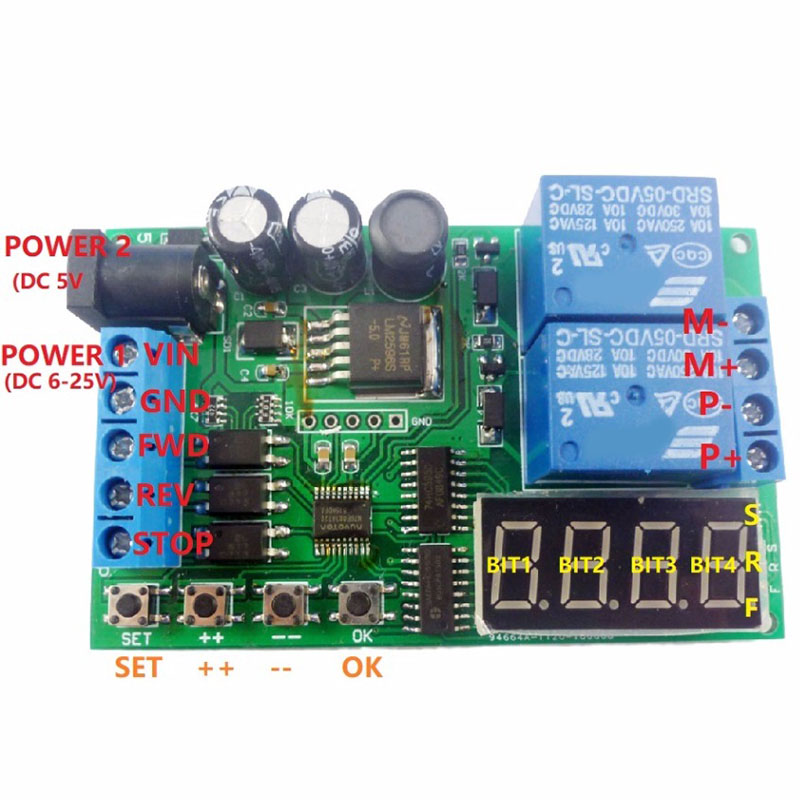 Bảng giá 5V 9V 12V 24V DC/AC Motor Controller Relay Board Forward Reverse Control Automatic Timing Delay Cycle Limit Start Stop Switch Điện máy Pico