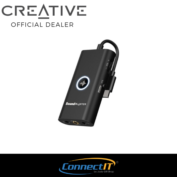 Creative Sound Blaster G3 Portable External Console Gaming USB-C DAC Amp for PS4™, PS5™, Nintendo Switch™, PC, and Mac (1 Year Local Warranty) Singapore