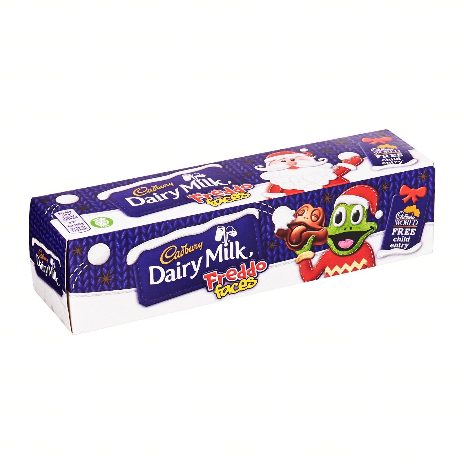 Cadbury Dairy Milk Chocolate Freddo Faces Tube - Christmas Special