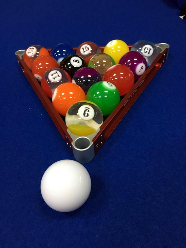 2.25 Standard Numbered Pool Ball Set- Crystal Clear Design
