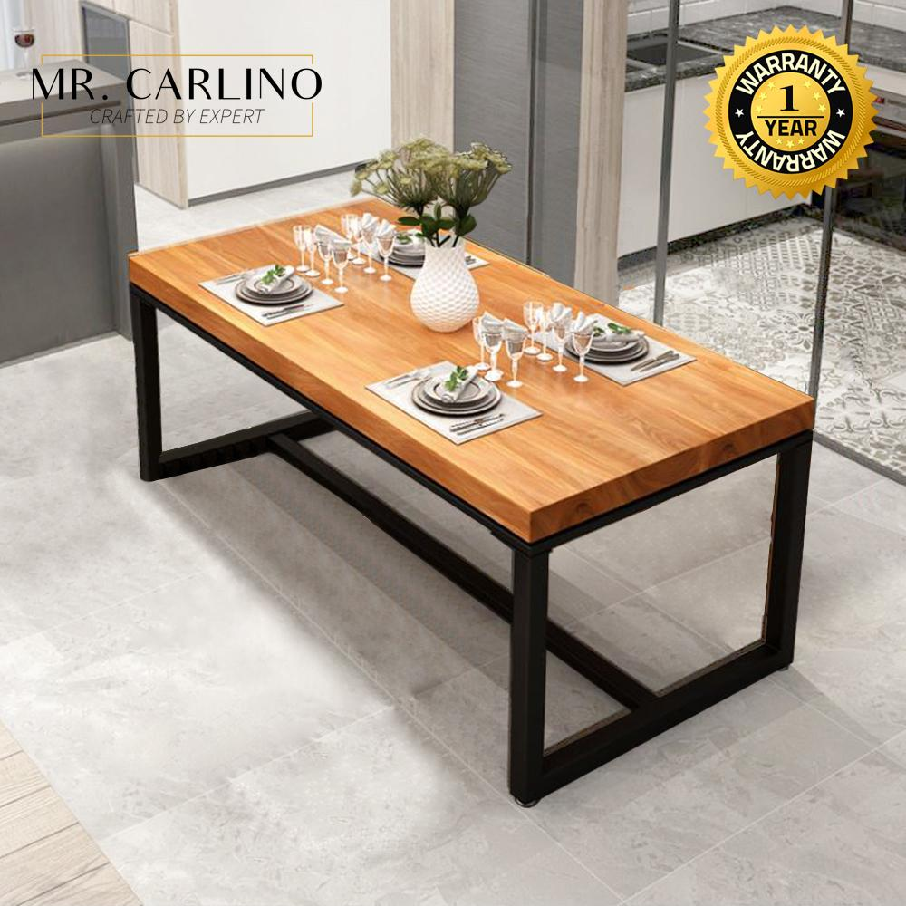 DOLCIE Solid Rubber Wood Steel Leg Dining Table Sets / Office Table / 餐桌