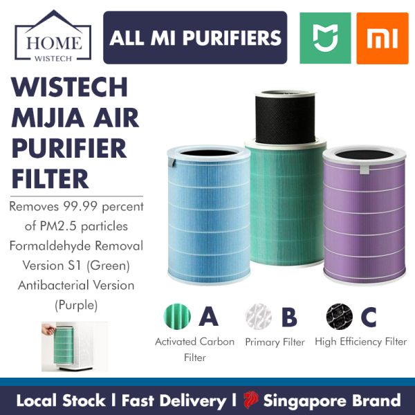 Xiaomi Mijia Air Purifier Filter Xiaomi Filter Air Filter Standard Version / Anti Bacterial Version / Anti Virus Version / Formaldehyde Enhanced S1 Version Filter Wistech Singapore