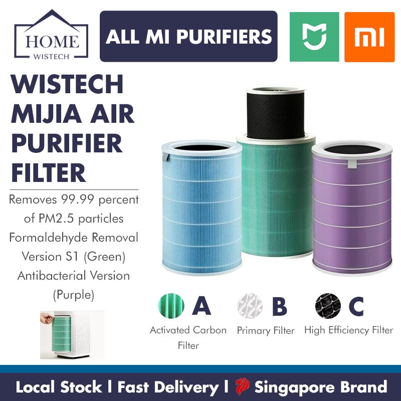 Xiaomi Mijia Air Purifier Filter Xiaomi Filter Air Filter Standard Version / Anti Bacterial Version / Anti Virus Version / Formaldehyde Enhanced S1 Version Filter Wistech Singapore