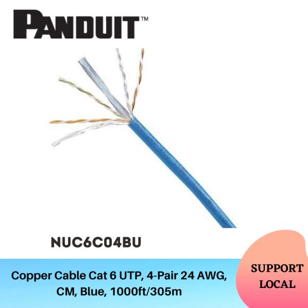 Panduit Cat6 UTP 24AWG Copper Cable - NUC6C04BU