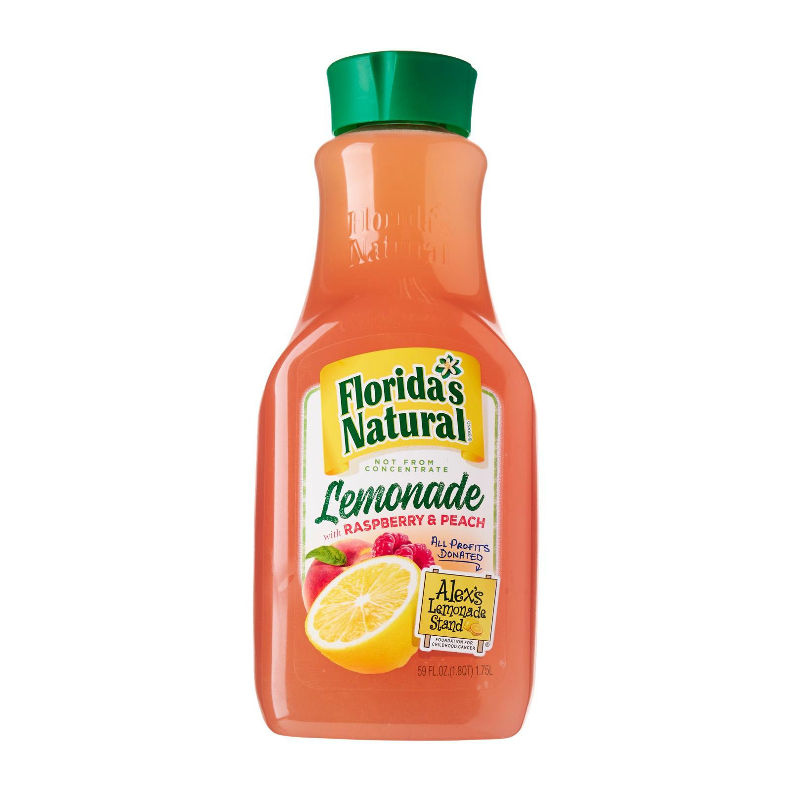 FLORIDA'S NATURAL Lemonade with Raspberry & Peach 1.75L